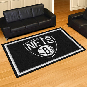Brooklyn Nets Plush Rug - 5'x8'
