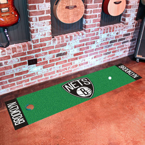 "Brooklyn Nets Putting Green Runner 18""x72"""