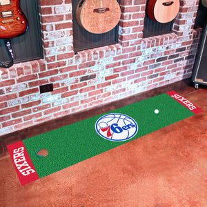 "Philadelphia 76ers Putting Green Runner 18""x72"""