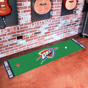 "Oklahoma City Thunder Putting Green Runner 18""x72"""