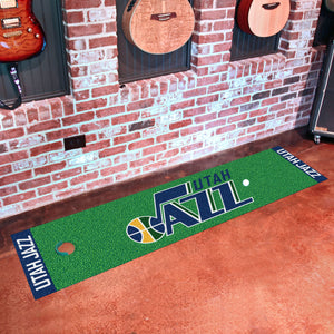 "Utah Jazz Putting Green Runner 18""x72"""