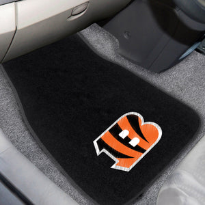 "Cincinnati Bengals  2-Piece Embroidered Car Mat Set - 17""x25.5"""