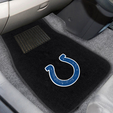 Indianapolis Colts  2-Piece Embroidered Car Mat Set - 17