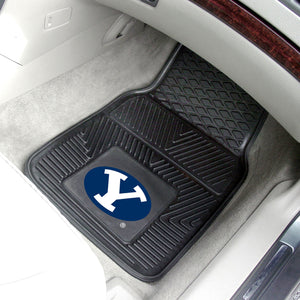 "Brigham Young Cougars 2 Piece Vinyl Car Mats - 18""x27"""