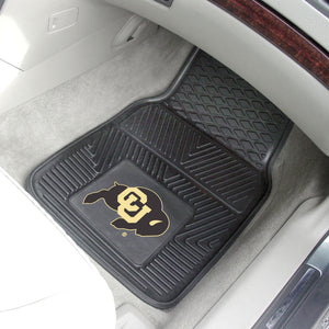 "Colorado Buffaloes 2 Piece Vinyl Car Mats - 18""x27"""