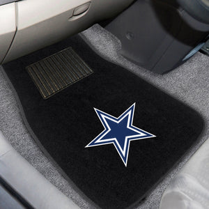 "Dallas Cowboys  2-Piece Embroidered Car Mat Set - 17""x25.5"""