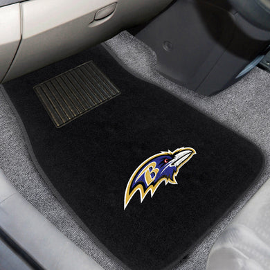 Baltimore Ravens  2-Piece Embroidered Car Mat Set - 17