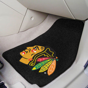 "Chicago Blackhawks 2-Piece Carpet Car Mats - 18""x27"""