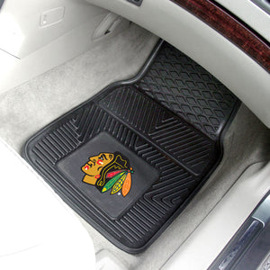 "Chicago Blackhawks 2-Piece Vinyl Car Mats - 18""x27"""