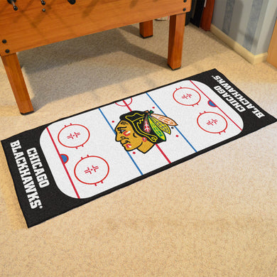 Chicago Blackhawks Hockey Rink Runner Rug 72
