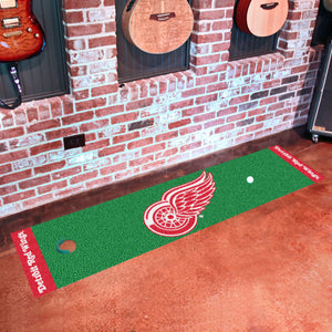 "Detroit Red Wings Putting Green Runner 18""x72"""