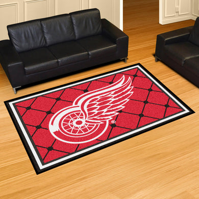 Detroit Red Wings Plush Rug - 5'x8'