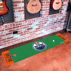 "Edmonton Oilers Putting Green Runner 18""x72"""