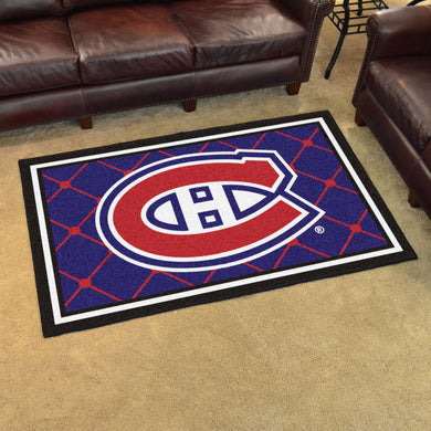 Montreal Canadiens Plush Rug - 4'x6'