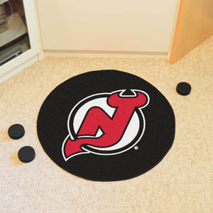 New Jersey Devils Hockey Puck Rug - 27""