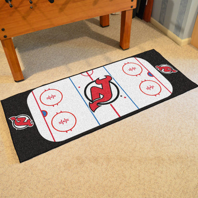 New Jersey Devils Hockey Rink Runner Rug 72