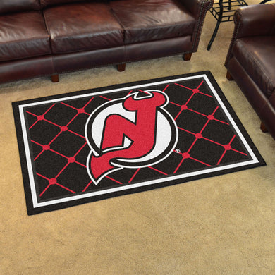 New Jersey Devils Plush Rug - 4'x6'