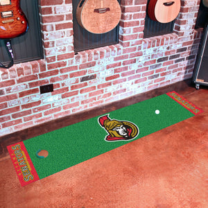 "Ottawa Senators Putting Green Runner 18""x72"""