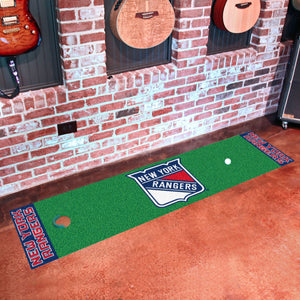 "New York Rangers Putting Green Runner 18""x72"""