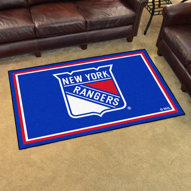 New York Rangers Plush Rug - 4'x6'