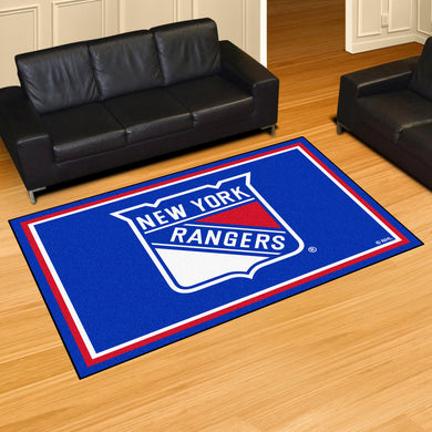 New York Rangers Plush Rug - 5'x8'