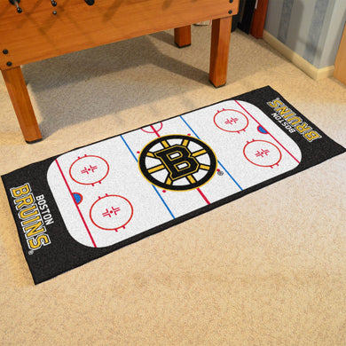 Boston Bruins Hockey Rink Runner Rug