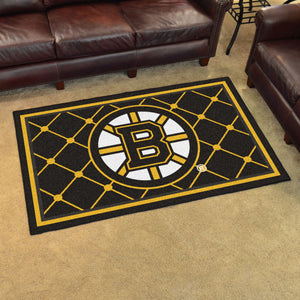 Boston Bruins Plush Rug - 4'x6'