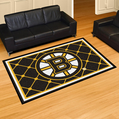 Boston Bruins Plush Rug - 5'x8'