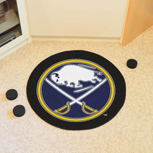 Buffalo Sabres Hockey Puck Rug - 27""