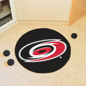 Carolina Hurricanes Hockey Puck Rug - 27""