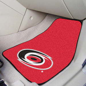 "Carolina Hurricanes 2-Piece Carpet Car Mats - 18""x27"""