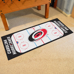 "Carolina Hurricanes Hockey Rink Runner Rug 72""x30"""