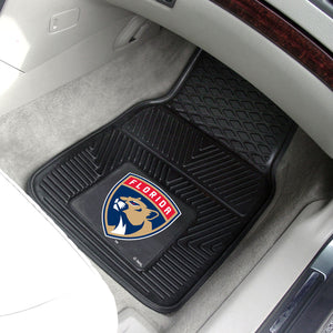 "Florida Panthers 2-Piece Vinyl Car Mats - 18""x27"""