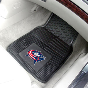 "Columbus Blue Jackets 2-Piece Vinyl Car Mats - 18""x27"""