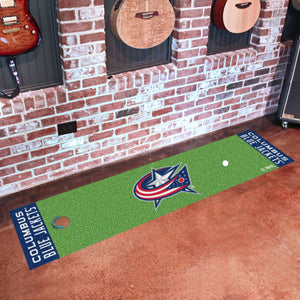 "Columbus Blue Jackets Putting Green Runner 18""x72"""