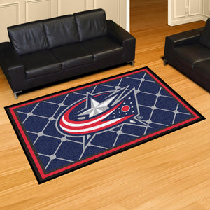 Columbus Blue Jackets Plush Rug - 5'x8'