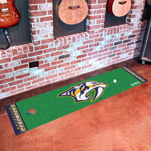 "Nashville Predators Putting Green Runner #1 18""x72"""