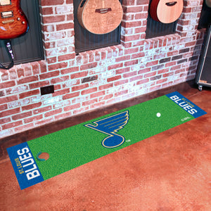 "St. Louis Blues  Putting Green Runner 18""x72"""