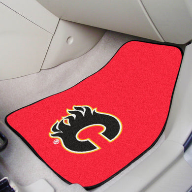 Calgary Flames 2-Piece Carpet Car Mats - 18