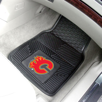 Calgary Flames 2-Piece Vinyl Car Mats - 18