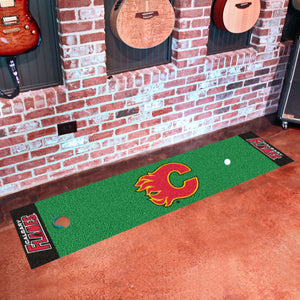 "Calgary Flames Putting Green Runner 18""x72"""