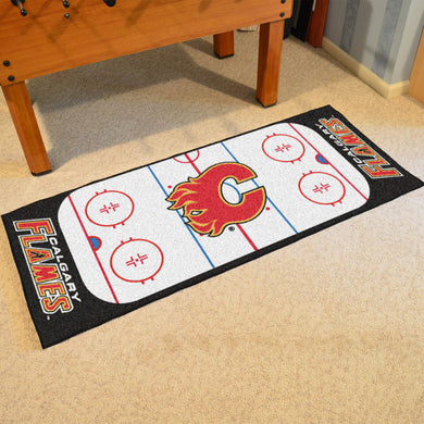 Calgary Flames Hockey Rink Runner Rug 72