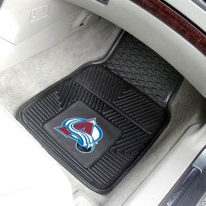 "Colorado Avalanche 2-Piece Vinyl Car Mats - 18""x27"""