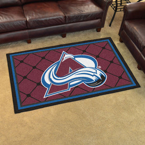 Colorado Avalanche Plush Rug - 4'x6'