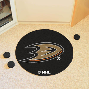 Anaheim Ducks Hockey Puck Rug - 27""