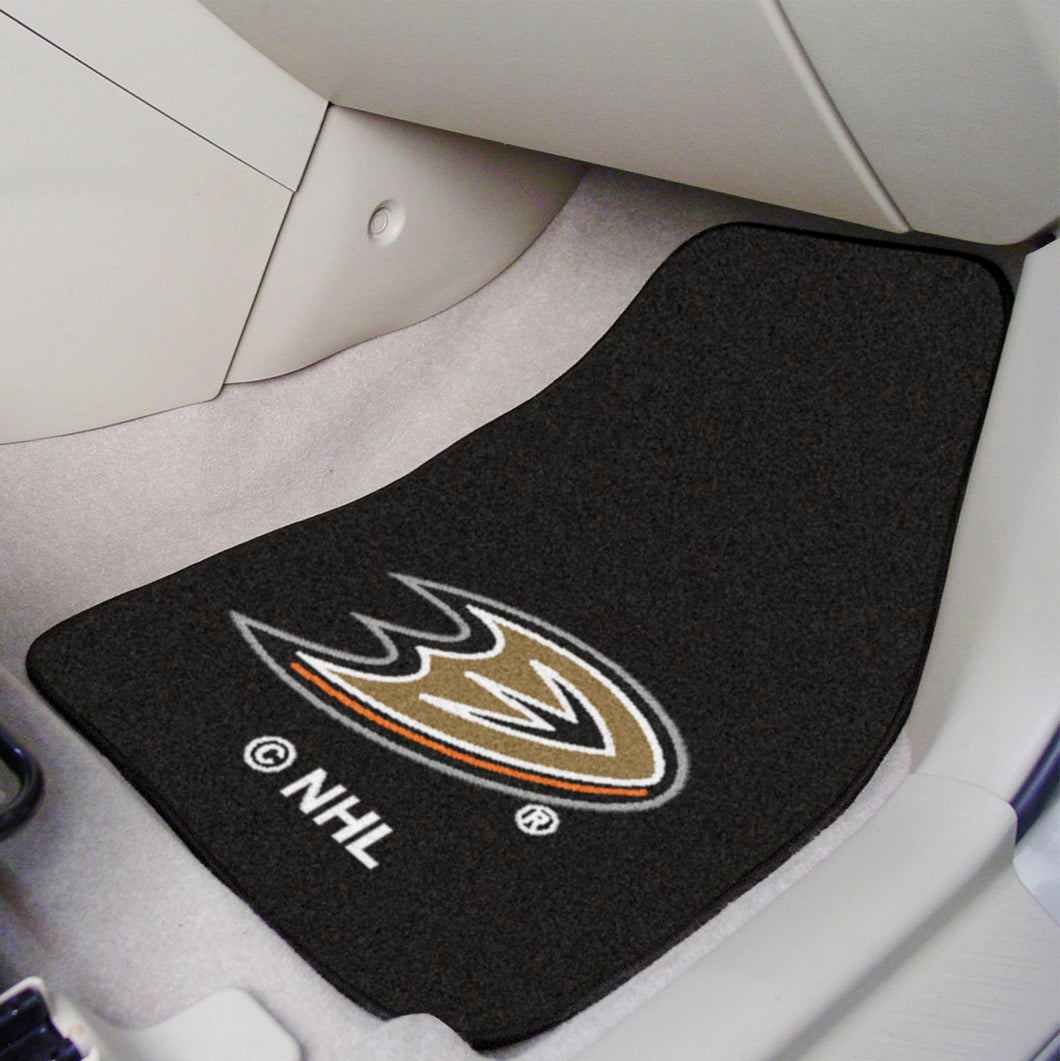 Anaheim Ducks 2-Piece Carpet Car Mats - 18