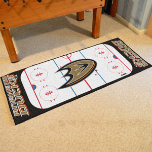 "Anaheim Ducks Hockey Rink Runner Rug 72""x30"""