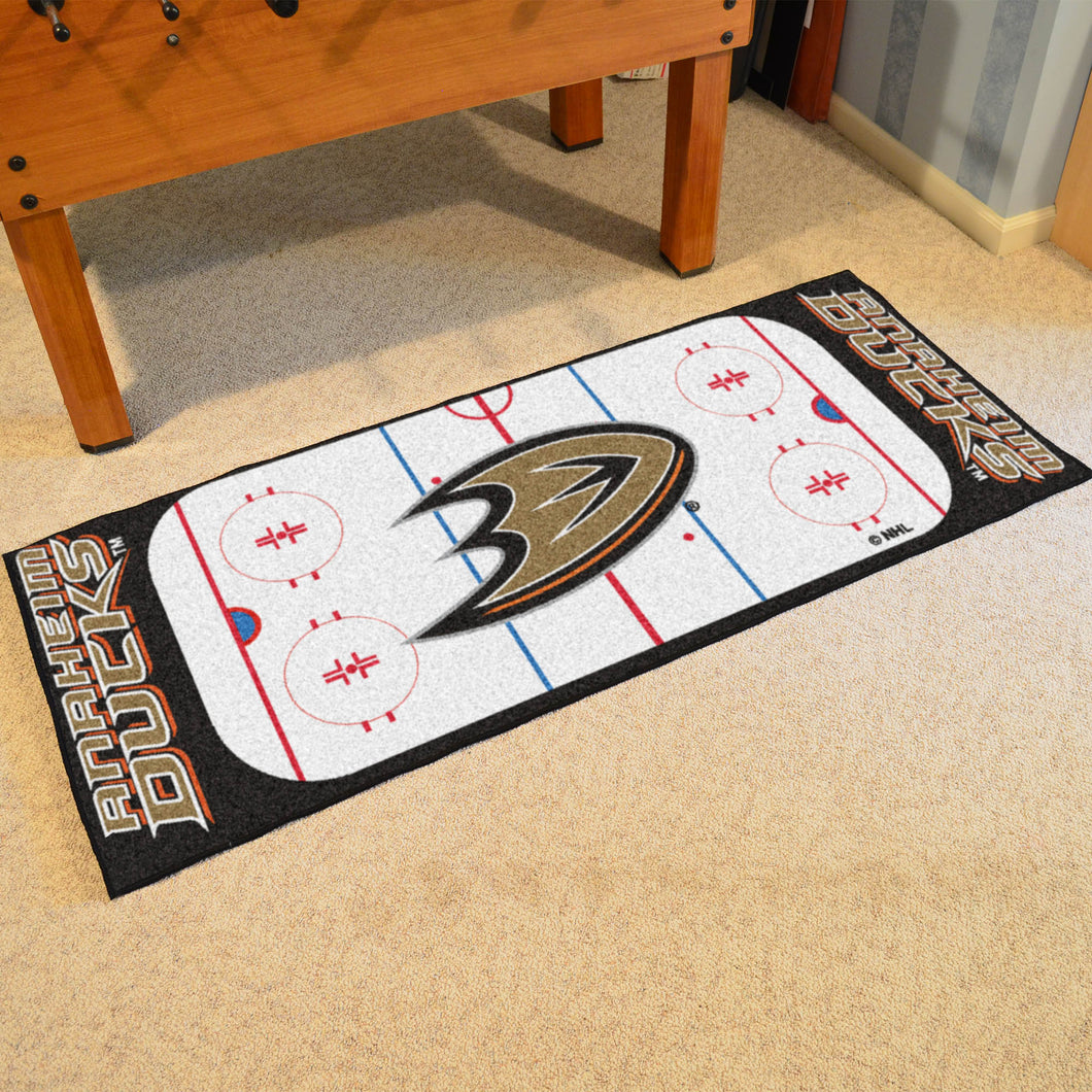 Anaheim Ducks Hockey Rink Runner Rug 72