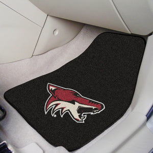 "Arizona Coyotes 2-Piece Carpet Car Mats - 18""x27"""