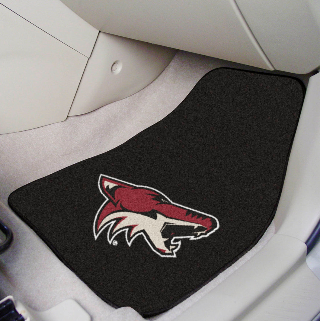Arizona Coyotes 2-Piece Carpet Car Mats - 18